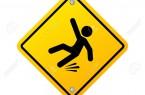 Slippery wet floor warning sign