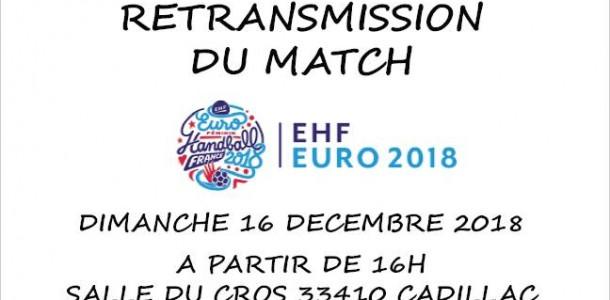 RETRANSMISSION FINALE COUPE D'EUROPE FEMININE